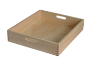 wood tray with handle