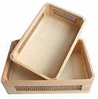 wood collecting trays