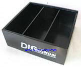 black finish collecting wooden tray