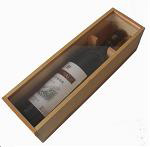 natural finish wooden gift box with acryl lid