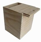 unfinished square wooden gift box